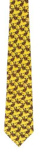 Bisley Silk Tie - Solid Yellow Pheasants (JR-BIT38)